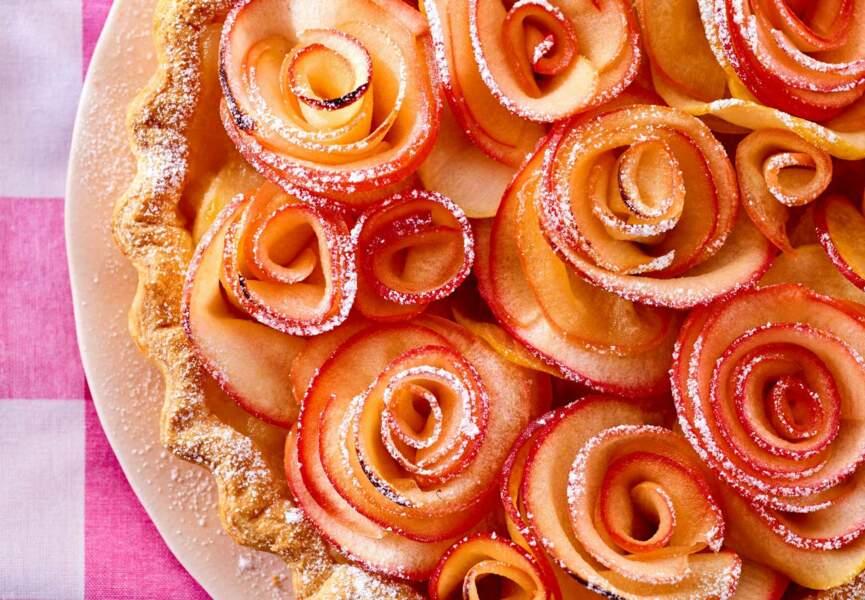 Tarte fleurs aux pommes