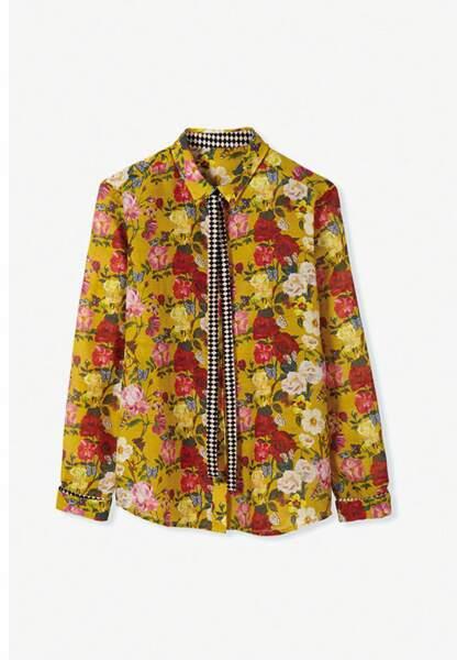 La chemise fleurie