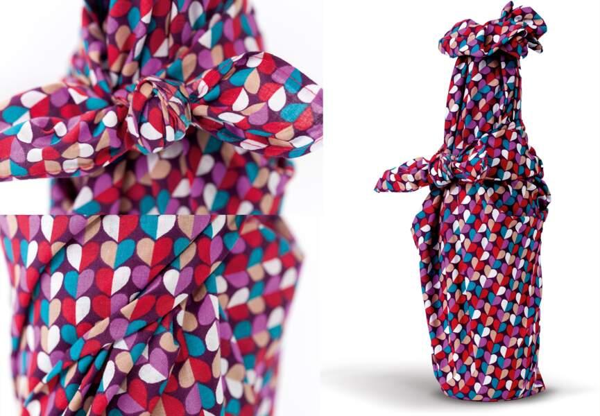 Pliage furoshiki : La bouteille