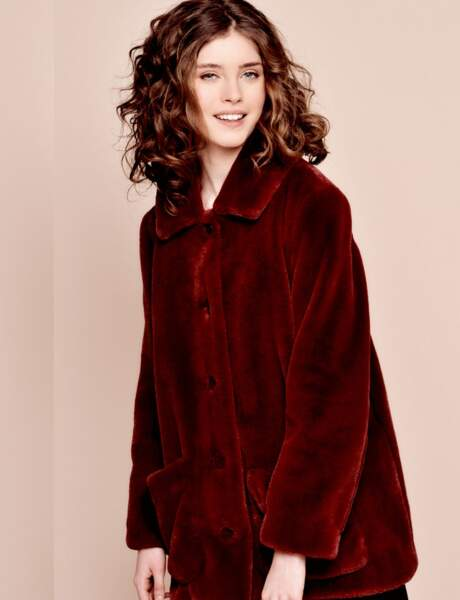 Manteau de fourrure : preppy