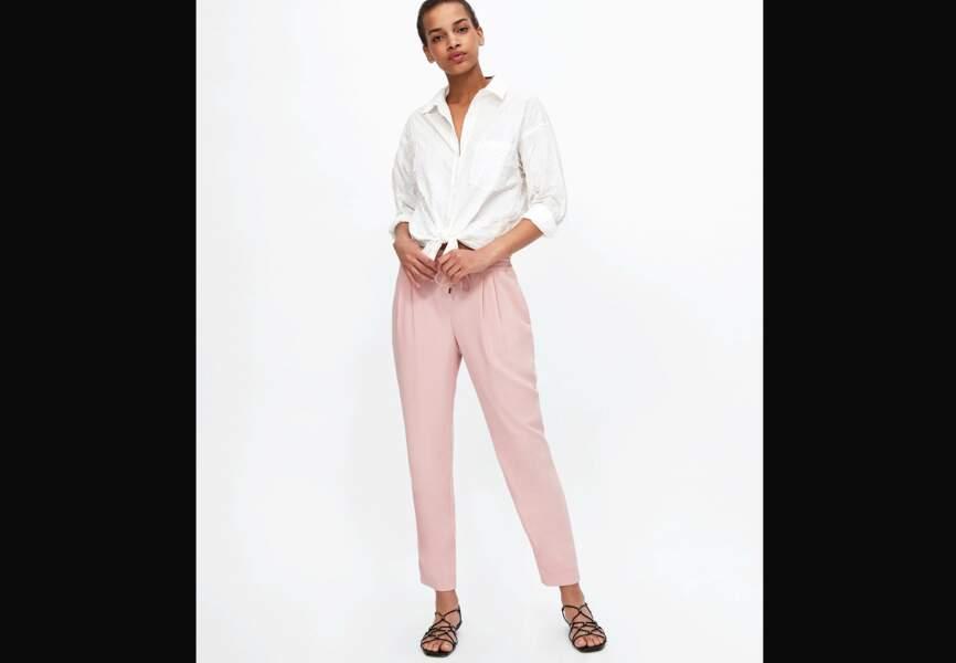 Nouveautés Zara: le pantalon rose