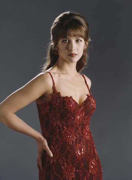 """Sophie Marceau au moment du tournage du film """"Le monde ne suffit pas"""" en 1999."""