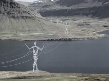 Incroyable : des pylônes électriques géants à forme humaine en projet en Islande