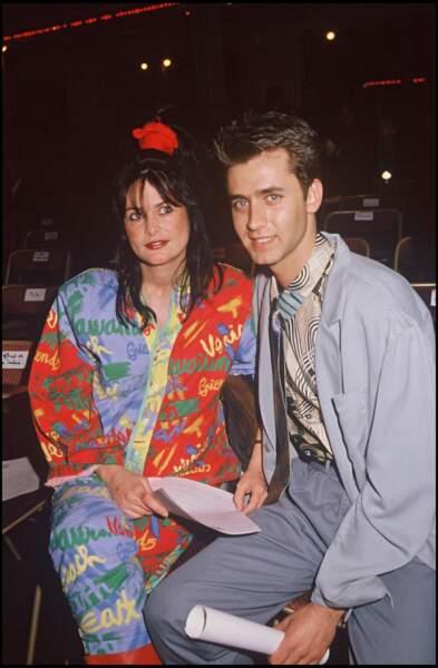 Eric Galliano et sa femme en 1988