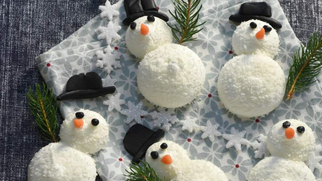 Meringue coco bonhomme de neige
