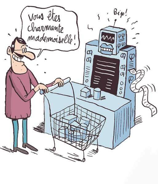 Les caisses de supermarché