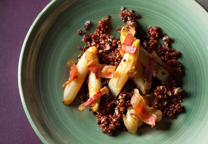 Quinoa aux asperges