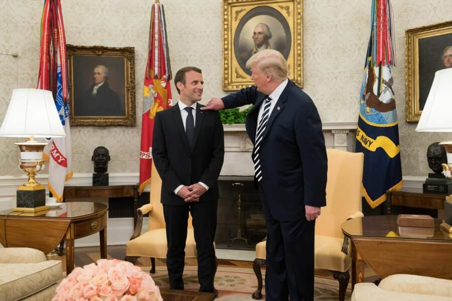 Emmanuel Macron et Donald Trump
