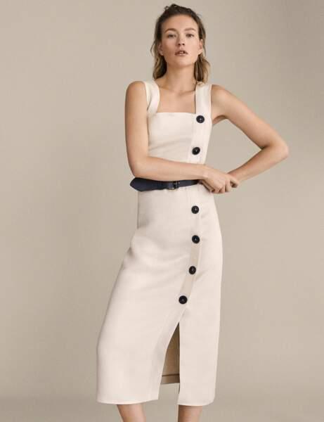 Tenue de cérémonie : la robe tube en lin