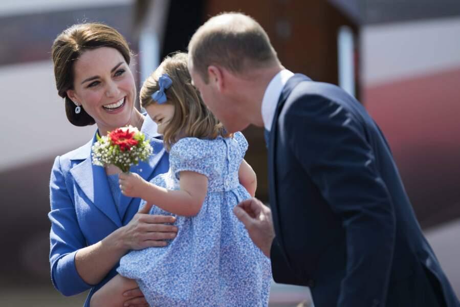 Kate, William et Charlotte