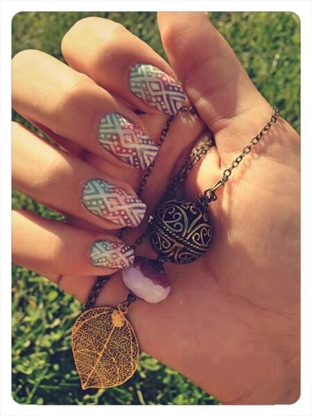 Nail Art aztèque