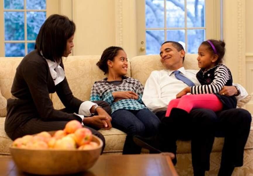 La famille Obama, une famille comme toutes les autres ?
