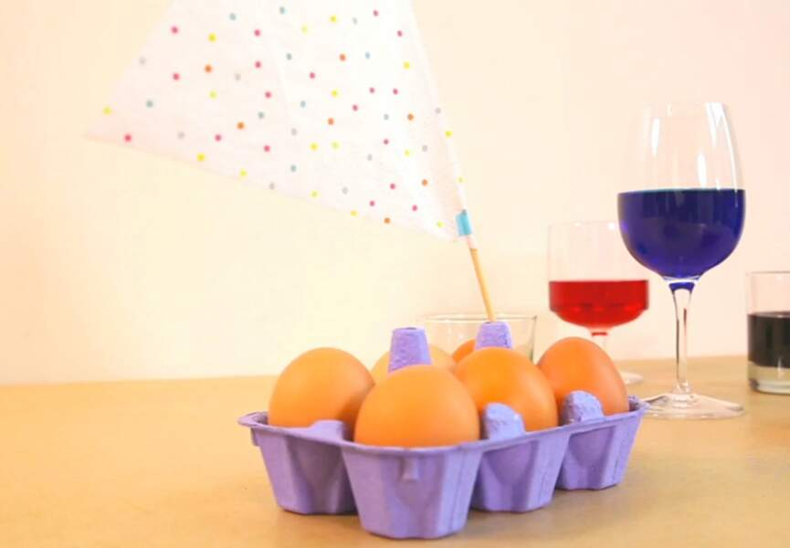 Des oeufs marbrés pour Pâques