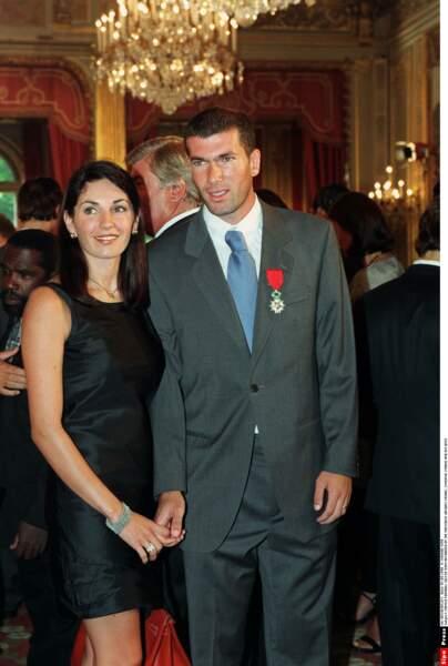 Zinédine Zidane et sa femme Véronique :1998