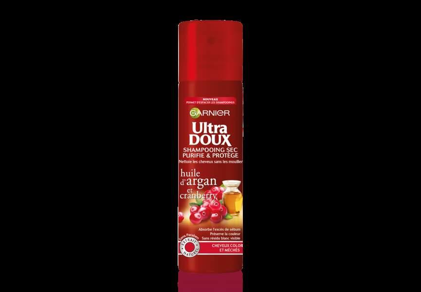 Shampooing sec, Huile d'argan et cranberry, Ultra doux, Garnier : shopping pour une colo longue tenue