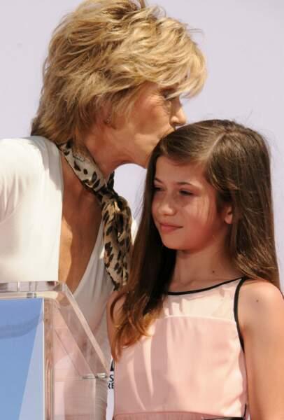 Jane Fonda et sa petite-fille Viva Vadim