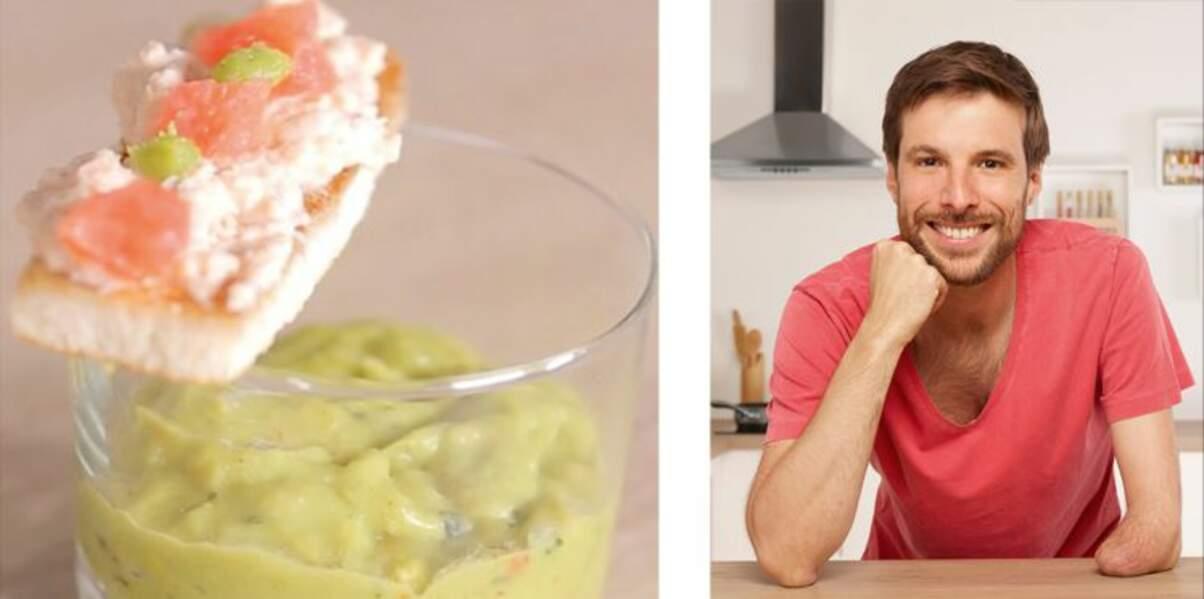 La verrine de guacamole, agrumes et mouillette de crabe de Grégory Cuilleron