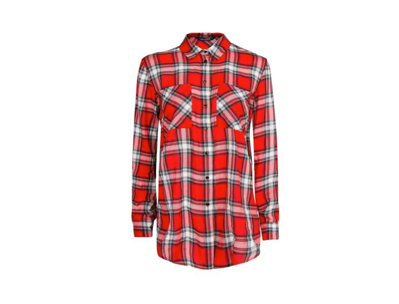 La chemise tartan par Mango