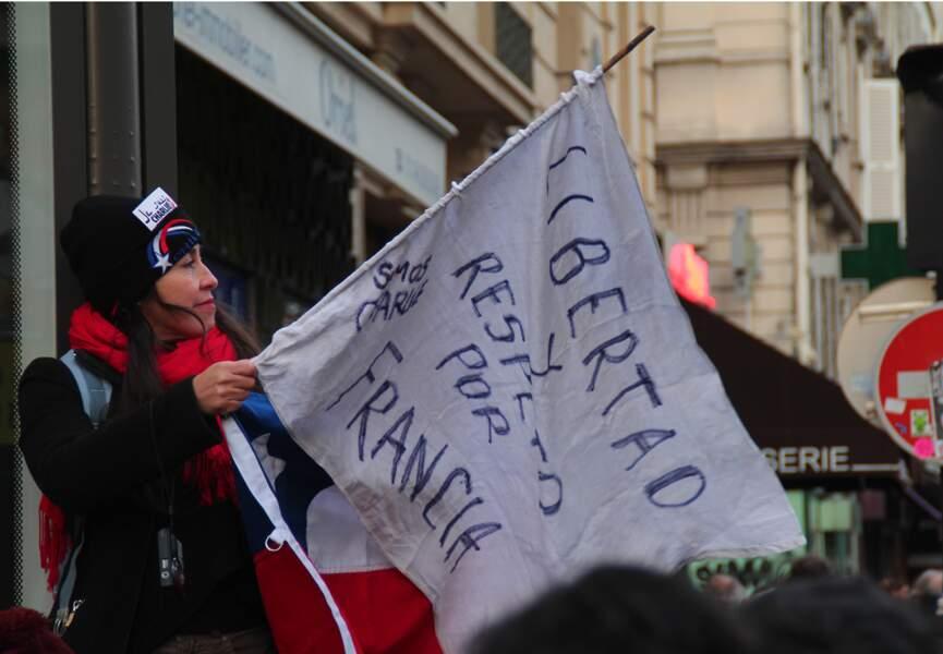 """Une chilienne : """"Liberté et respect pour la France"""""""