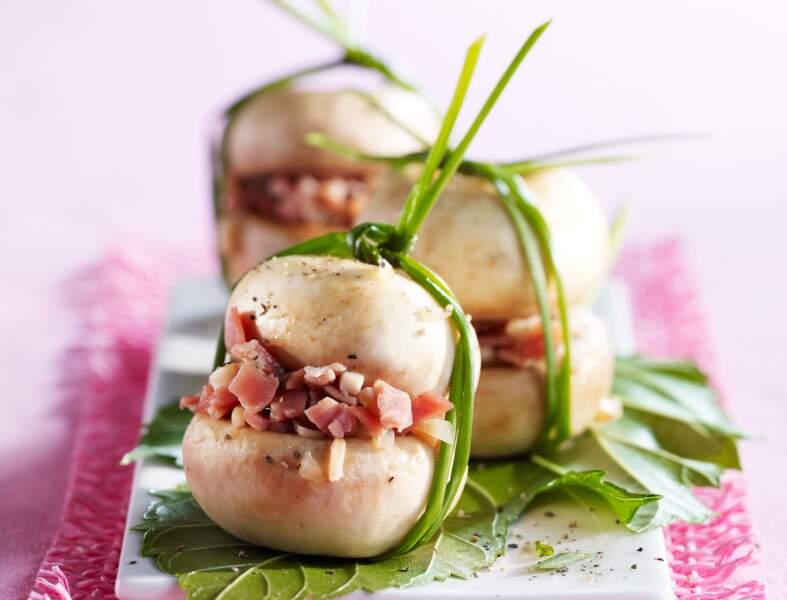 Champignons au jambon