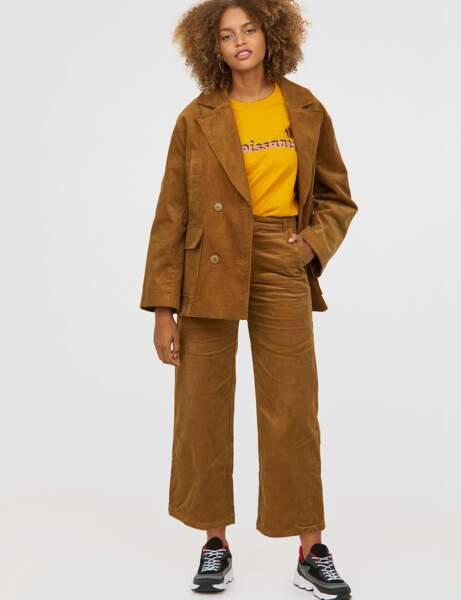 Nouveautés H&M : le pantalon en velours