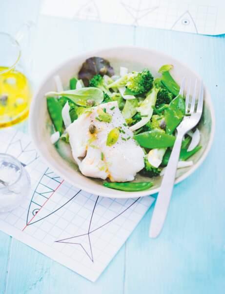 Salade détox brocoli et cabillaud