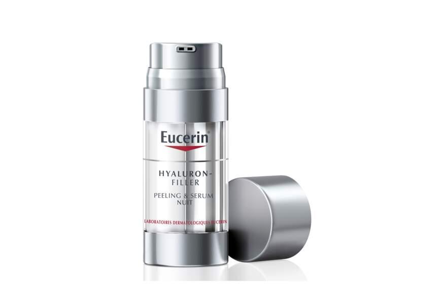 Le Peeling & sérum de nuit Hyaluron Filler Eucerin