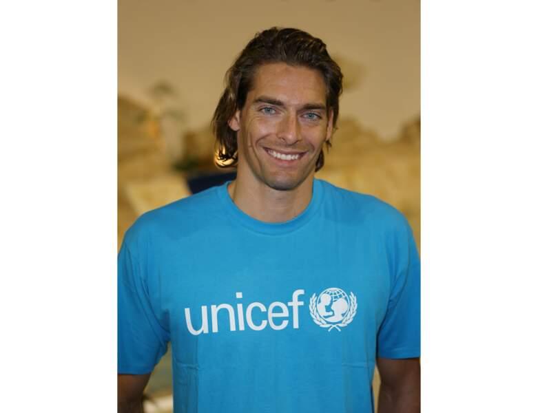 """Deux ans plus tard à 30 ans, il participe au """"Défi de l'eau"""" organisé par L'UNICEF"""