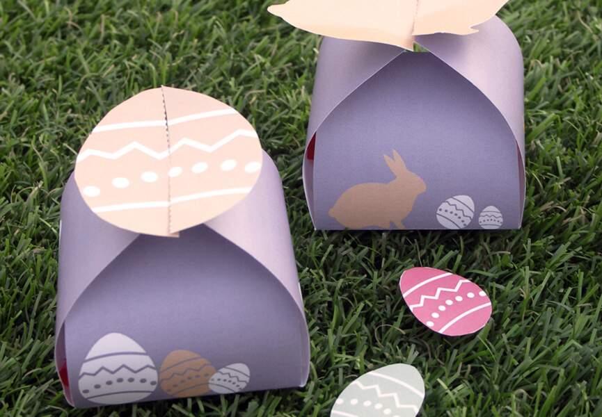 Boites de Pâques à imprimer
