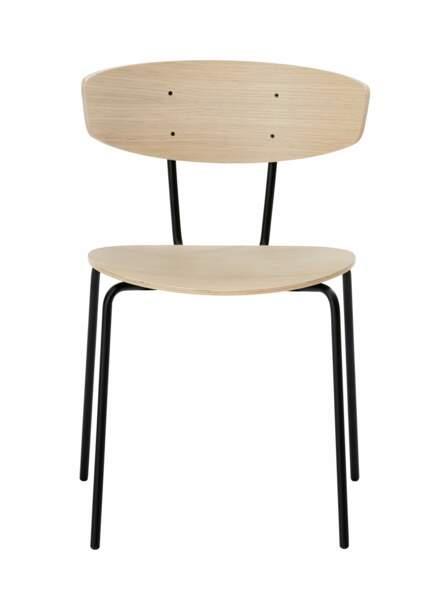 Chaise en bois et métal