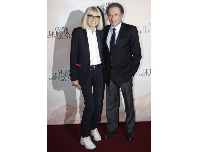 À 74 ans (2012), elle est photographiée avec Michel Drucker