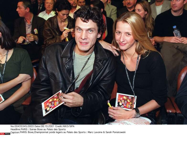 Marc Lavoine et Sarah Poniatowski, 2001