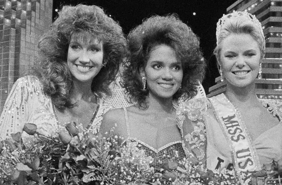 Halle Berry première dauphine de Miss America en 1986