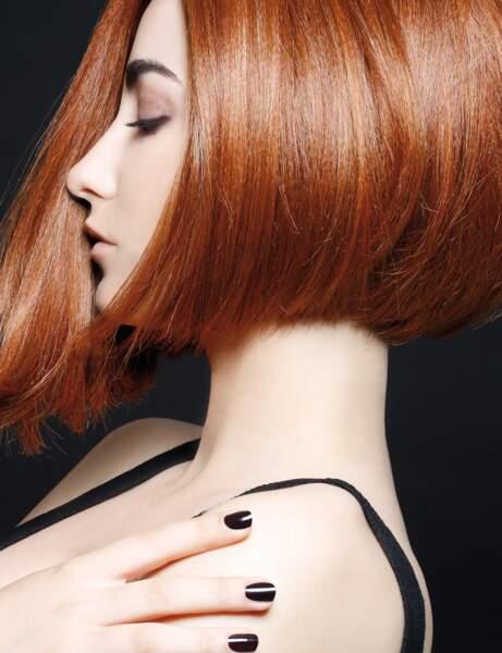 Les cheveux roux cuivré