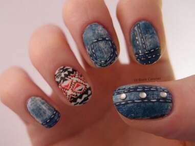 Nail art : inspiration denim