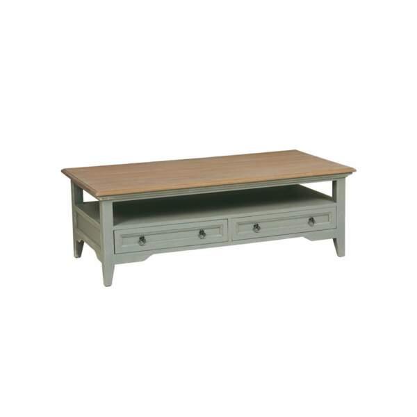 Table basse plateau bois