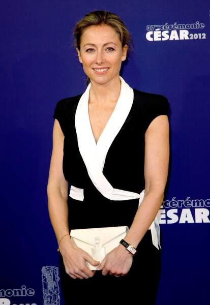 Anne-Sophie Lapix à la 37ème cérémonie des César au théâtre du Châtelet en 2012.
