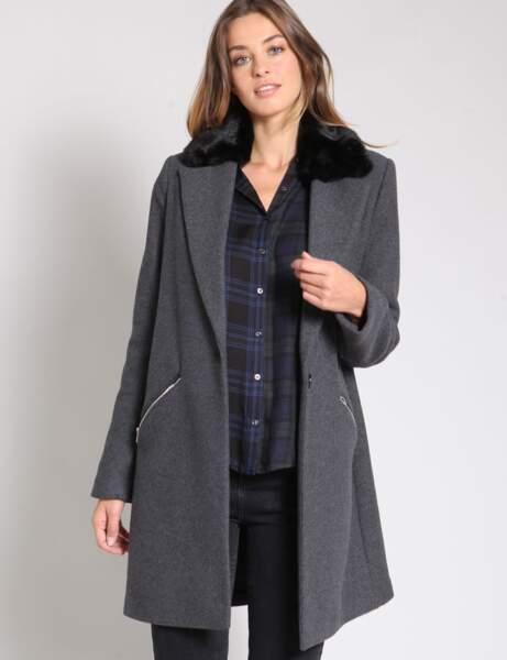 Manteau oversize longue femme