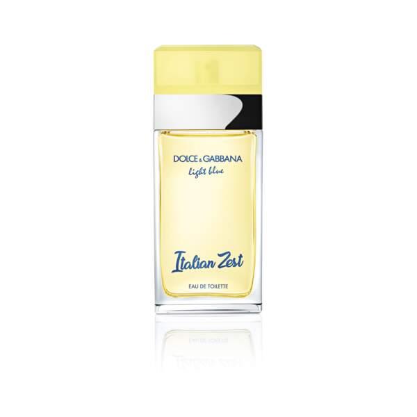 Eau de Toilette Light Blue Italian Zest, Dolce & Gabbana, vaporisateur 125 ml, prix indicatif : 73 €