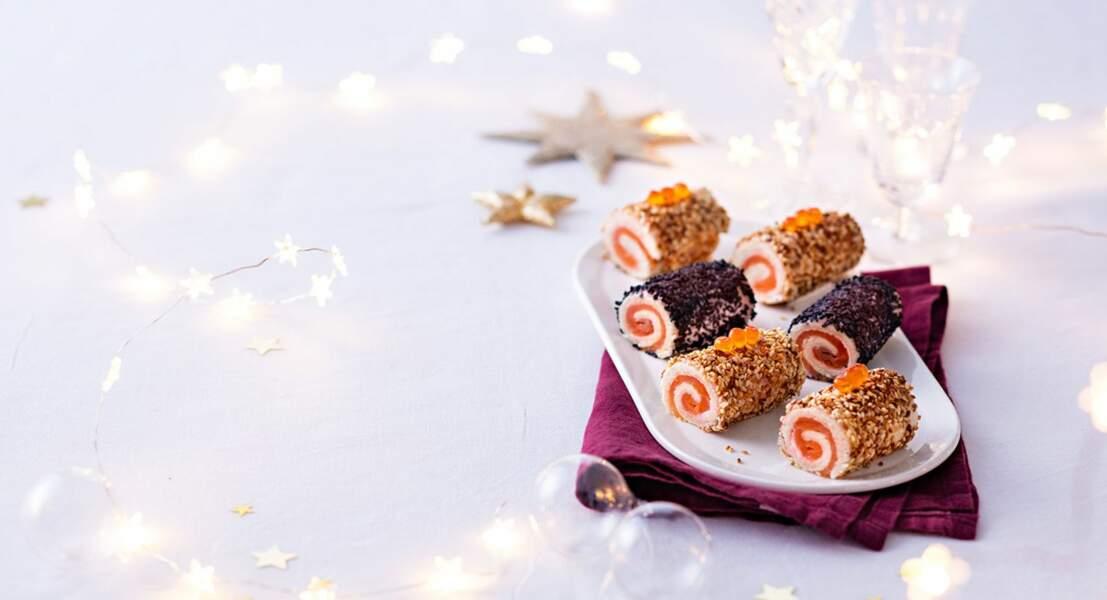 Mini-bûche tarama saumon