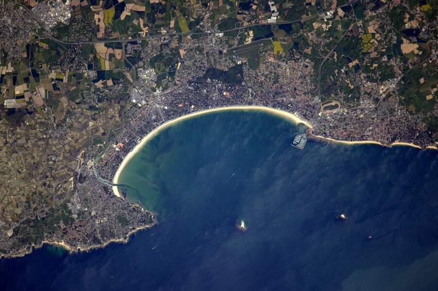 La célèbre plage de La Baule...