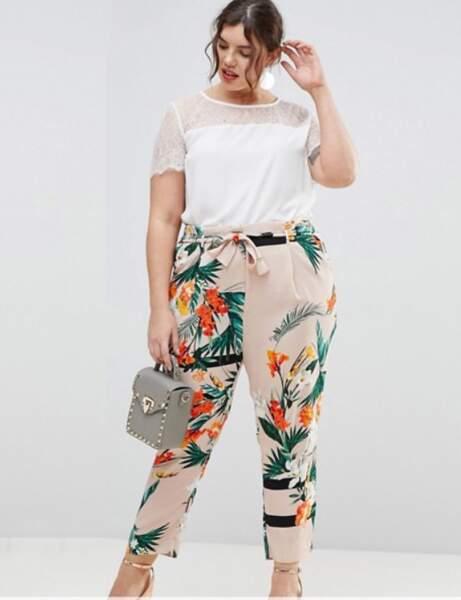 Mode grande taille : le pantalon paperbag imprimé