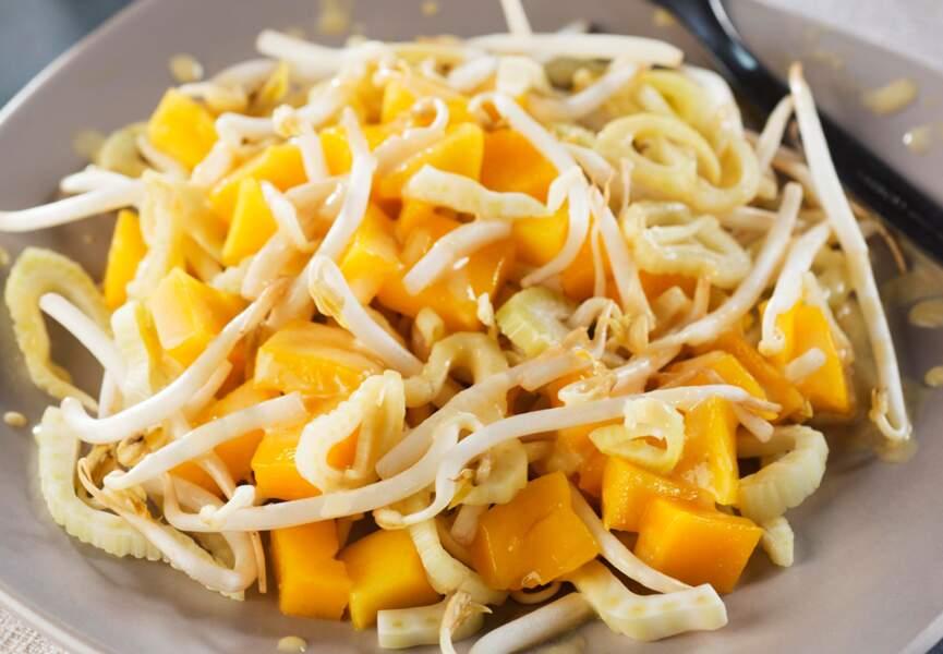 Salade de fenouil à la mangue, sauce yaourt