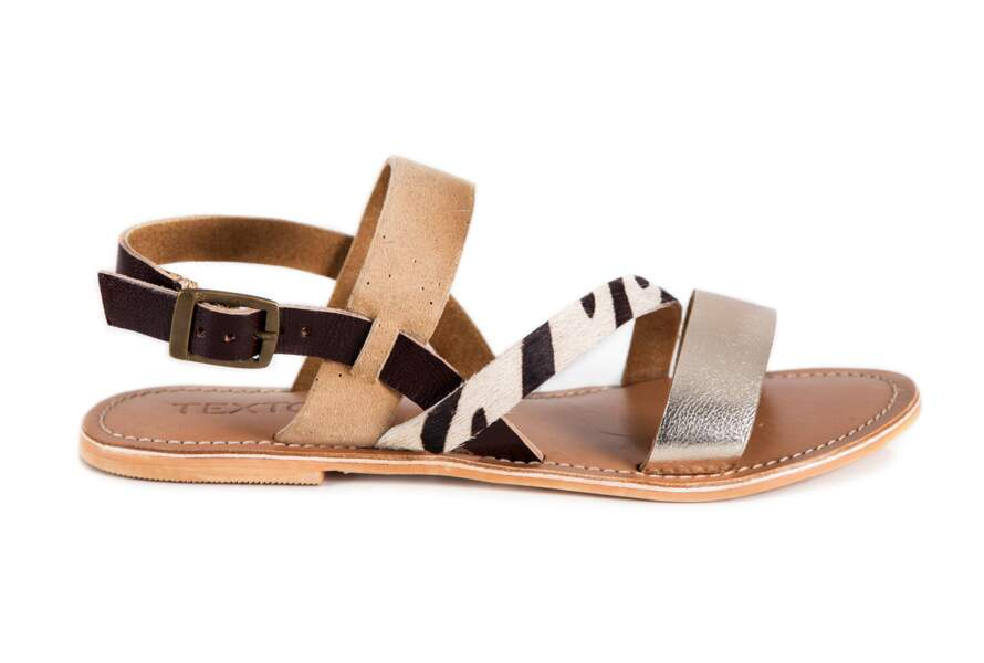 Sandales multicolores