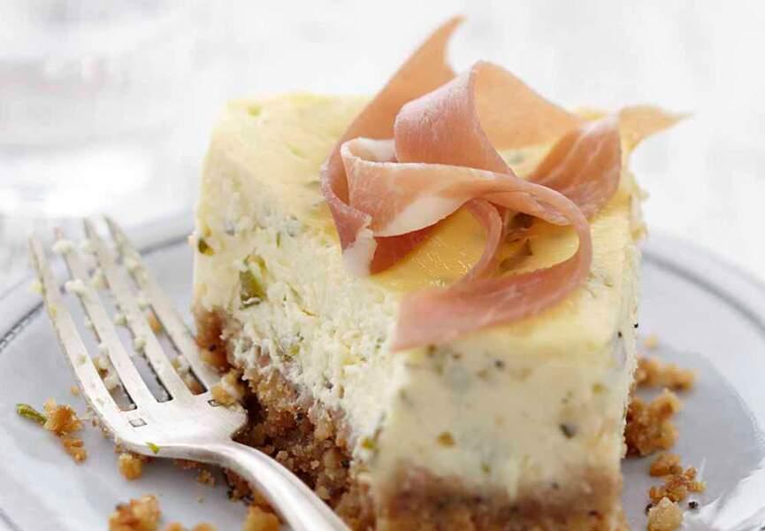 Cheesecake estragon & échalote