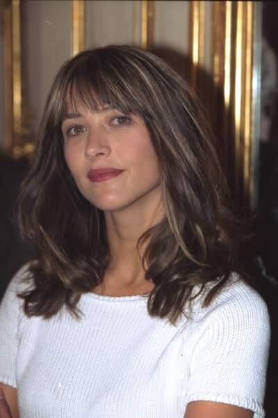 Sophie Marceau à la conférence de presse du festival du film de Marrakech en 2001.