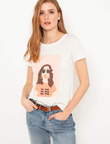 Tee-shirt : Camaïeu