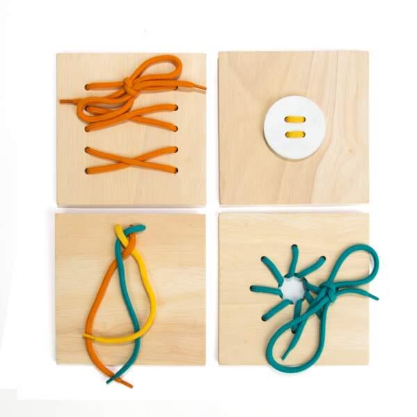 Montessori : la boîte de laçages