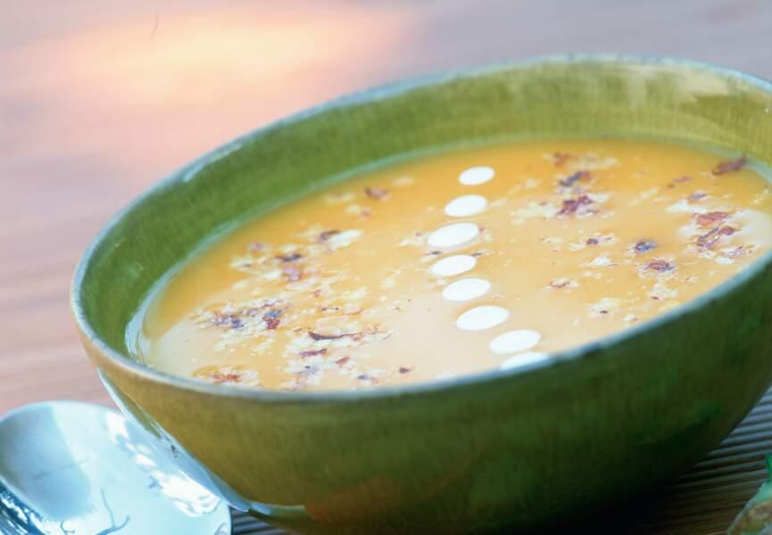 Soupe de potiron aux noisettes