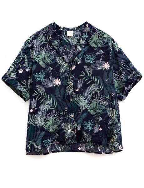 M/&s Collection en pur coton rayé léger T-Shirt